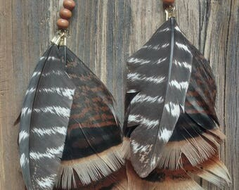 Turkey Feathers with Wood