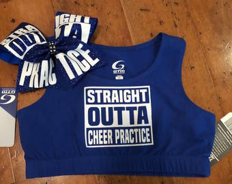 Straight Outta Practice Blue Youth Large