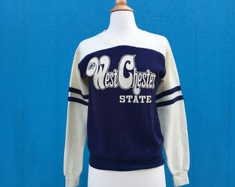 Rare 1970s Vintage West Chester University Sweatshirt