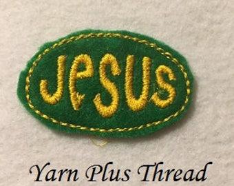 Jesus Feltie Embroidery Design