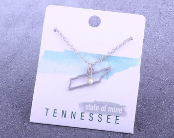 Customizable! State of Mine: Tennessee Silver Necklace - Great Gift!