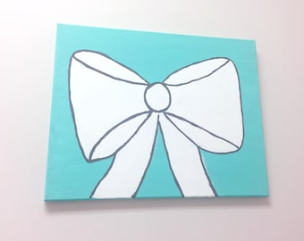 Hand Painted Bow Canvas