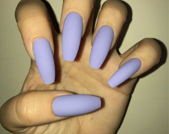 Perfect Purple Acrylic Nails
