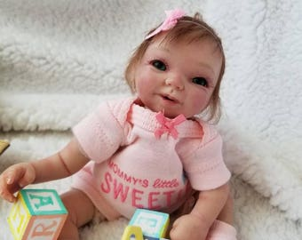 "Apx 9"" partial sculpted posable clay baby by TinyToesStudio"