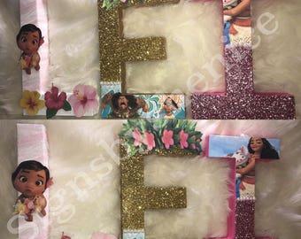 Moana themed letter set