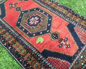 Turkish Rug, Hallway Rug, Kilim Rug, Vintage Rug, Area Rug, Rug, Handmade Rug, Anatolian Rug, Decorative Rug//190 x 100 cm = 6,2 x 3,2 ft