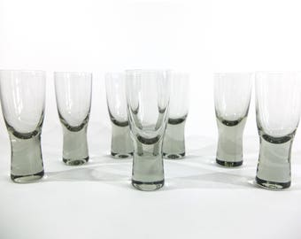 Per Lutken for Holmegaard Canada Shot Glasses, Set of 7