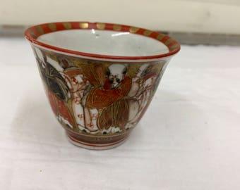 Antique Oriental Porcelain Tea Bowl  circa 1865