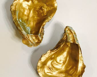Gold-Fill Oyster Shell Magnet