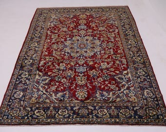 Delightful Handmade Najafabad Isfahan Persian Rug Oriental Area Carpet 8'5X12'7