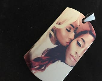Custom photo engraved tag pendents