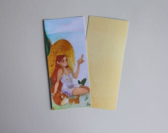Reader girl bookmark