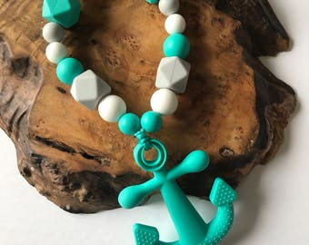 Anchor Teething and Fine Motor Skills toy, baby montessori toys, montessori baby, teething toys, teether toy, infant teether toy, anchor toy