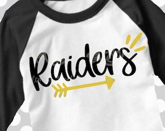 Raiders svg, SVG, DxF, EpS, Cut file, arrow svg, Raiders, shortsandlemons, SVG Sayings, football svg, football sister svg, football mom svg