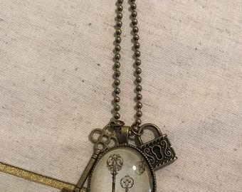 Lock and key necklace #311