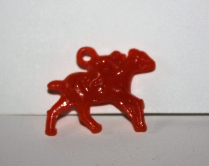 Vintage Plastic HORSE & JOCKEY Charm Cracker Jack Toy Prize