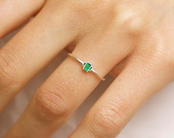 Emerald Engagement Ring. Emerald Ring. Emerald Crystal Ring. Raw Emerald Ring. Rough Emerald Ring. Emerald Crystal Engagement Ring.