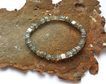 Labradorite bracelet with 925 silver elements