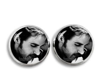 Hook Stud Earrings Killian Jones 12mm Earrings Colin O'Donoghue Once upon a time Fandom Jewelry