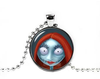 Sally Necklace with Pendant Nightmare before Christmas Fandom Jewelry  Jack and Sally Necklace