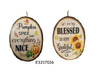 ESE Wood Plaque Sign, wall decor for thanksgiving fall