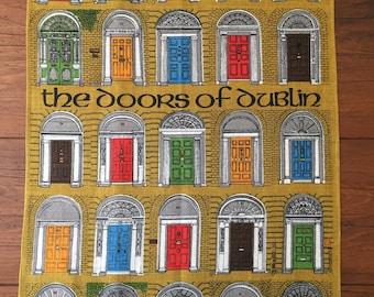 The Doors of Dublin - Vintage Irish Linen Tea Towel