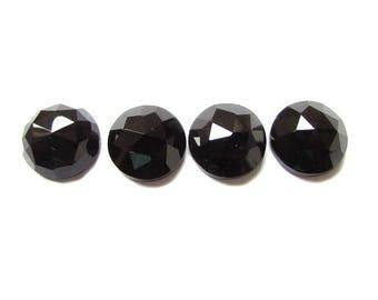 10pcs Lot 11mm Black Onyx Round Rose Cut gemstone