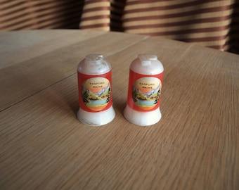 Sanford Maine Plastic Memorabilia Advertising Salt and Pepper Shakers