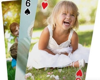 Personalised Playing Cards 54 different custom Photo playing cards poker deck Engraved photo cards housewarming gift party favors wedding