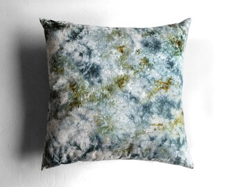 Hand Dyed Silk and Hemp Cushion