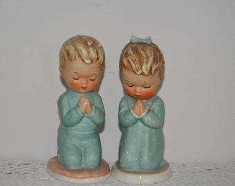 Vintage 1957 Goebel Hummel Figures God Bless Us All Praying Children In Pyjamas. Very good condition. Rare