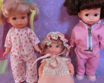 Amanda Jane Vintage dolls with outfits Lot