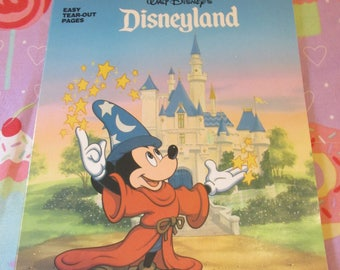 1991 Vintage Disney Disneyland Golden Book Coloring Book