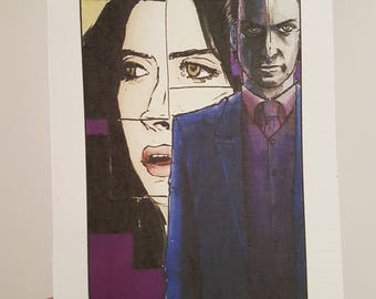 Villain Clans Kilgrave (Jessica Jones) - A5 print on acrylic paper