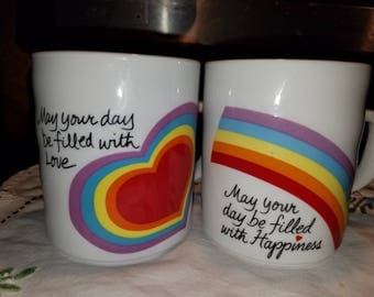 Avon Rainbow and Heart 1983 and 1984