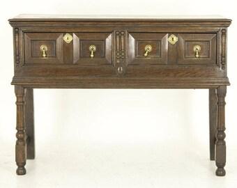 B560 Petite Scottish Antique Oak Dresser, Sideboard, Server