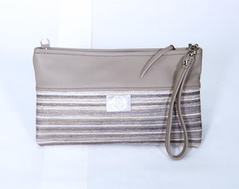 Grey Leather Clutch, leather clutch, leather crossbody