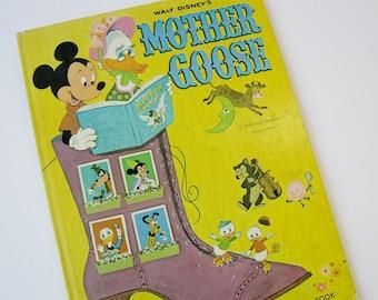 Mother Goose Big Golden Book, Vintage Book of Nursery Rhymes, Walt Disney's Mother Goose Collectible Disney Mickey Mouse Disneyana 1970s