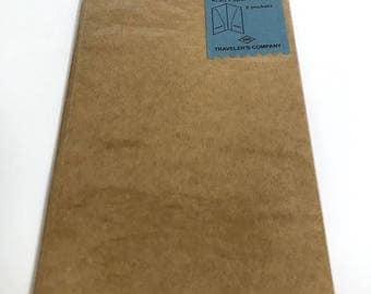 Traveler's Notebook Refill Kraft Paper Folder 2 pockets 020 Regular size 14332006 Traveler's Company TF Midori Designphil Free shipping