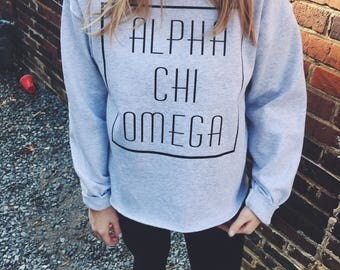 Retro Unhemmed Sorority Sweatshirt