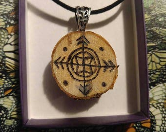 Wood Burned Pendant