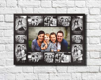 Photo collage on canvas  Wall Decor Idea Valentine's Day gifts Printing on canvas