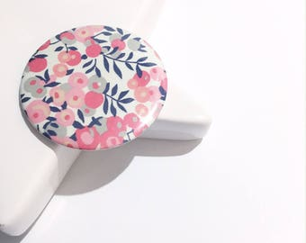 Liberty Wiltshire - sweet pea 75 mm Pocket mirror
