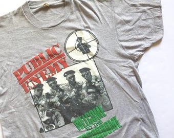 1990 Public Enemy Vintage Tour Concert Shirt, 90s hip hop 1990s, Rap, hip hop