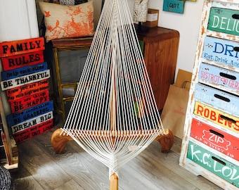Handmade Upcycled boat wood Harp Chair