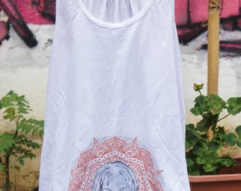Top White - Leeloo Mandala - the 5th Element - limited edition