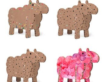 Cardboard sheep - Design Gift Decoration baby children room