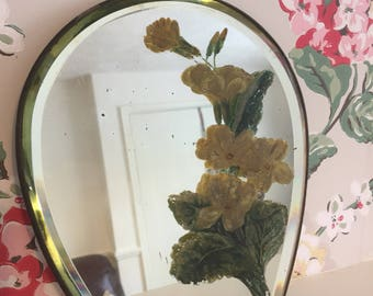 A beautiful handpainted vintage mirror
