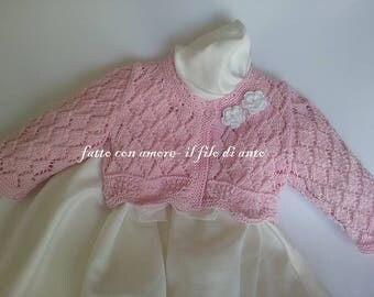 Cotton baby girl cardigan sweater/jacket/