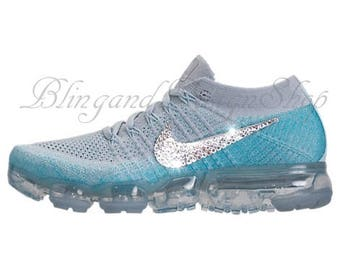 Swarovski Bling Nike Vapormax Flyknit Women's Nike Shoes Customized with Swarovski Crystals Rhinestones, Tennis Shoes
